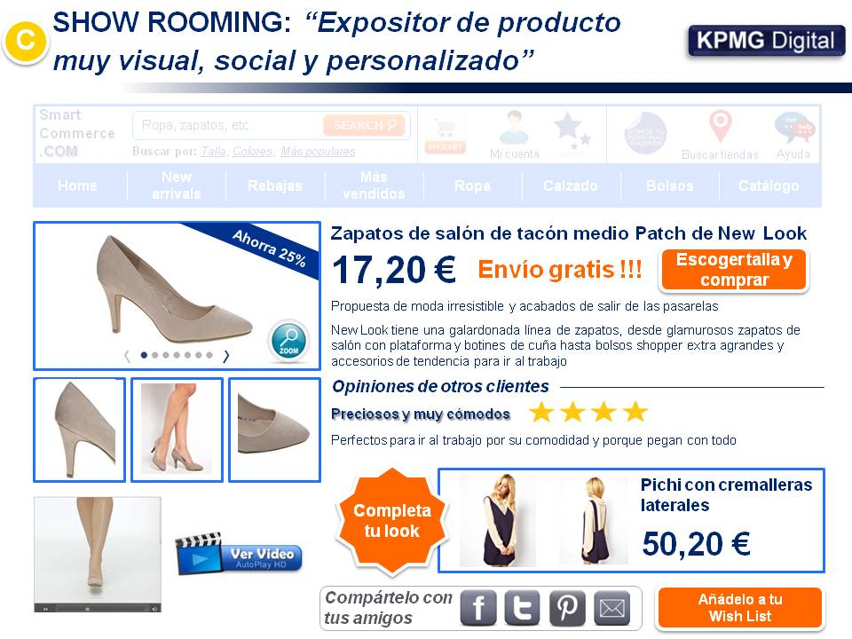 Expositor de producto o Show Rooming