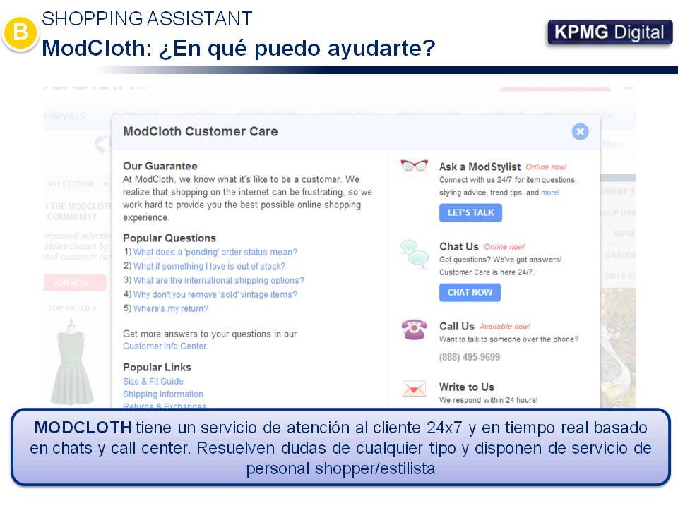 ModCloth - Atencion al cliente