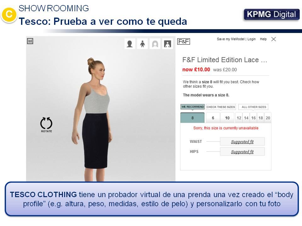 Tesco - Probador virtual