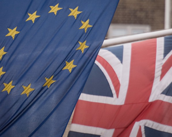 January 31, 2017 - London, UK - File photo dated 17/2/2016 of EU and UK flags, as MPs are to begin debating the Bill which will give Theresa May the go-ahead to launch formal negotiations for Britain to leave the European Union.