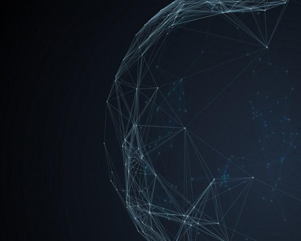Furutistic network technology background