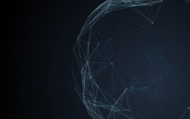 Furutistic network technology background